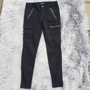 NWT Polo Ralph Lauren Combat Skinny Pants Black 6